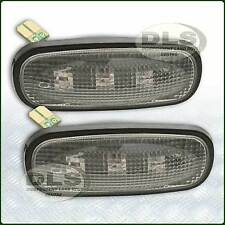 Clear LED Oval Side Repeater Lamp Set Land Rover Def,Freel2,Disco2  (DA8530)