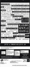 BLACKBOX NEW PLAY FESTIVAL 2009 ADVERTISING COLOUR POSTCARD