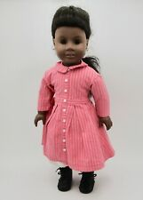 """American Girl doll Addy Walker African American in Meet outfit clothes dress 18"""""""