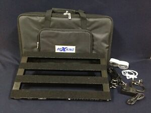 BoxKing PB4828A Rechargeable Pedalboard for 10 Guitar Effect Pedals+Padded Bag