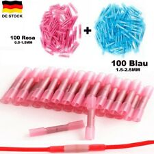 200er Schrumpfverbinder Quetschverbinder Stoss- Verbinder 0,5-2,5mm Set Rot Blau
