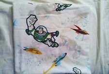 Disney Toy Story Buzz Lightyear Twin Size Flat Bed Sheet Fabric Linen