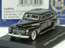 BOS Cadillac Fleetwood 75 Touring Sedan, 1941, schwarz - 87440 - 1:87