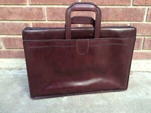 Vintage Hartmann Belting Leather Burgundy Briefcase Attache WITH Shoulder Strap