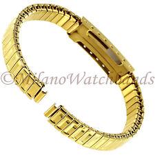 6mm Glam Rock Gold Tone Twist-O-Flex Faux Buckle Ladies Watch Band GBEX01SY