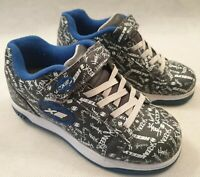 Heeleys X2 Blue Grey White Roller Skate Trainers UK Size 3 EUR 35 US Youth 4