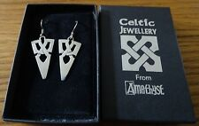 Silver Celtic Earrings by Amethyst