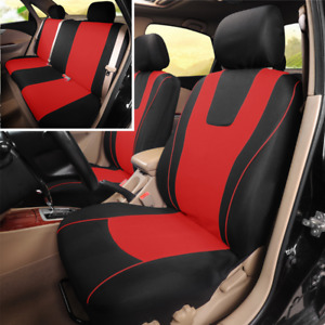 9pcs Polyester Fabric Seat Protect Cover Universal Fit For Car Front + Rear Seat