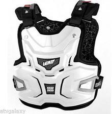 LEATT ADVENTURE CHEST PROTECTOR LITE BODY ARMOUR BRACE ADJUSTABLE WHITE BMX MX