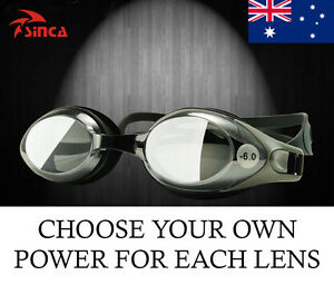 Short-Sighted Custom Made Prescription Swimming Anti-Fog Goggles Glasses