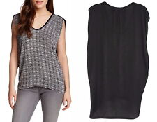 Anthropologie Contrast Drape Top XSmal 0 2 Runs Large Drapey Comfy Lightweight