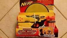 Nerf N-Strike Disk Shot expansion pack,blaster w/6 foam Disks & 6 micro darts