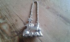 Used - Keychain Machine Of Train Silver - Item For Collectors - Used