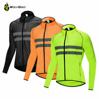 Mens Cycling Jackets Windproof Waterproof Reflective Bike Bicycle Jerseys Hi Viz