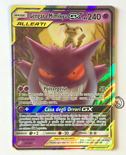 Pokemon Gengar e Mimikyu Gx 53/181 Ultra Rara Holo MINT