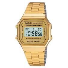 Casio Classic Unisex Watch, A168WG-9EF, Digital, Gold Tone, Alarm, Stopwatch