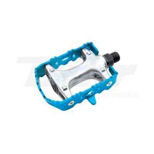 Pareja Pedales Colorido Azul MTB Bici Bicicleta Aluminio Ciclo Single Speed