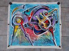 "Simeon Gonzales  "" Caballito ""  , Peinture Originale sur Toile de Lin"