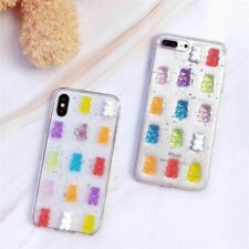 3D Gummy Bear Clear Case Cute Candy Color Soft Cover For iPhone Xs Max XR 8 Plus