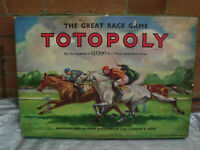 Vintage Totopoly Board Game - Horse Racing 1949 Waddingtons - 100% Complete VGC
