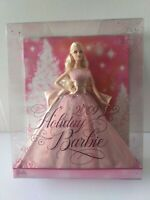 2009 Holiday Barbie Doll 50th Anniversary  Blonde Pink Gown Mattel N6556