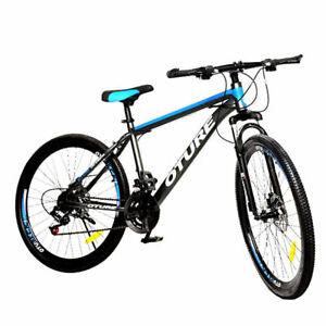 """26""""Mountain Bike 21Speed Front Suspension Mens Bikes MTB Dual Disc Brake Bicycle"""