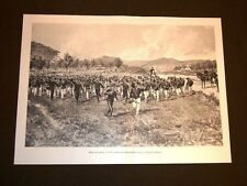 Manovre militari estive in Italia nel 1898 Una carica di Bersaglieri Matania