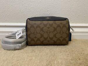 coach mini bennett satchel logo lether bag