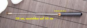 Tensor ausziehbare Rute, Holzgriff, Stahlstab, Einhandrute, 28 -35cm