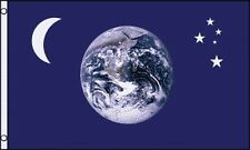 Earth Moon Stars Flag 3x5 ft Southern Cross Crescent Blue Marble Photo Planet