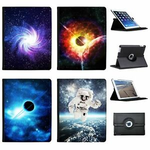 Space Exploration Folio Cover Leather Case For Apple iPad Tablet