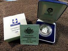 1985 Australia Victoria - State Series - Proof Silver Commemorative Coin w/OGP