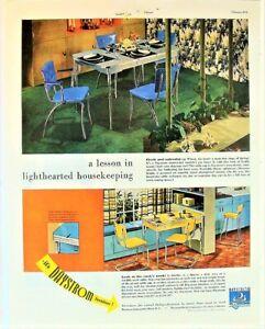 VTG MCM 1949 Daystrom Furniture Chrome Dinette Set Chairs Kitchen Photo Print Ad