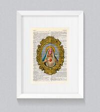 RuPaul Holy Mama Ru Virgin Mary Vintage Dictionary Book Print Wall Art