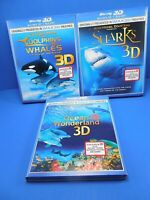 3 JEAN-MICHEL COUSTEAU OCEAN EXPLORATIONS - BLU-RAY - BRAND NEW - FREE SHIPPING