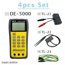 DER EE Set of DE-5000 LCR Meter + TL-21 + TL-22 SMD + TL-23 Tracking