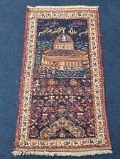 Antique Afshari Prayer Sumak Killim Handmade