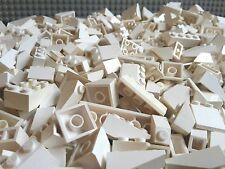 100 weiße Lego® Basic Dachsteine / Dachziegel weiß - weiss - City - Haus (L015)