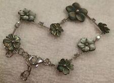 Bracelet Mother of Pearl Sterling Silver Vintage & Antique Jewellery