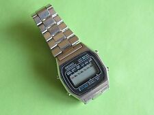 SEIKO M929-5030 digital chrono LCD watch S.S. Spare or restore