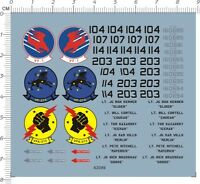 Detail Up 1/72 USAF Air Force F-14 VF-1 VF-213 VFA-213 Fighter Model Water Decal