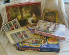 Small JOB LOT of VINTAGE Complete JIGSAWS by WADDINGTONS Sovereign Puzzles