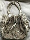 BRIGHTON MASTERPIECE Collection MOONLIGHT Flowered crocheted ORGANIZER Handbag