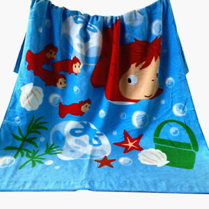 Japan Ponyo on Cliff PONYO Princess Towel Beach Towel Cotton 80*115cm