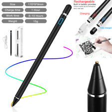 Rechargeable Pen Capacitive Touch Screen Stylus F iPad iPhone Samsung Tablet BLK