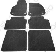 Vauxhall Zafira B MK2 06 - 11 Tailored Black Car Floor Mats Carpets 6pc W/ Clips