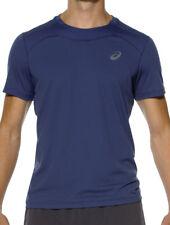 ASICS Race Mens Blue Wicking Short Sleeve Crew Neck Running T Shirt Tee Top XL