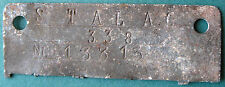 WWII Nazi POW Camp Stalag 338 id tag of soldier P.O.W. var.1 - standard shape