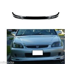 1999-2000 CIVIC 2 3 4 DOOR MU-GEN PU BLACK ADD-ON FRONT BUMPER LIP SPOILER