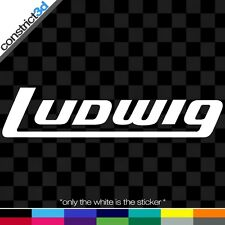 """(2x) LUDWIG DRUMS 8"""" VINYL DECALS *ANY COLOR*"""